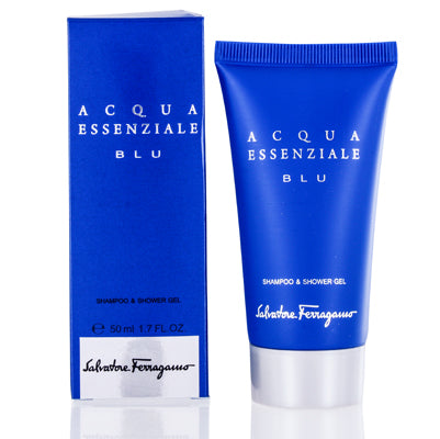 Acqua Essenziale Blu by Salvatore Ferragamo Shampoo Shower Gel 1.7 oz (50 ml) For Men