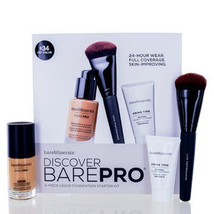 Bareminerals Discover Barepro (Teak 22) 3 Piece Liquid Foundation Starter Kit