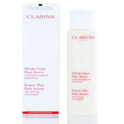 Clarins Renew Plus Body Serum Age Defying Concentrate 6.8 Oz (200 Ml)