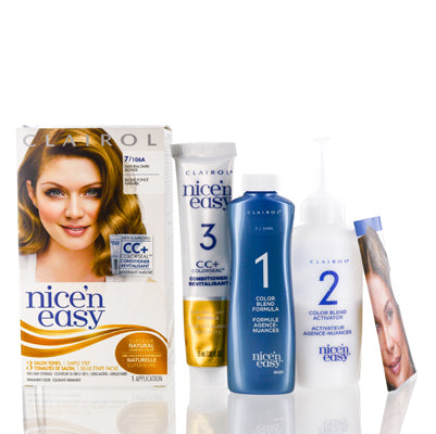 Shop for authentic Clairol Nice 'N Easy 7 106A Natural Dark Blonde Kit at Diaries of Paris