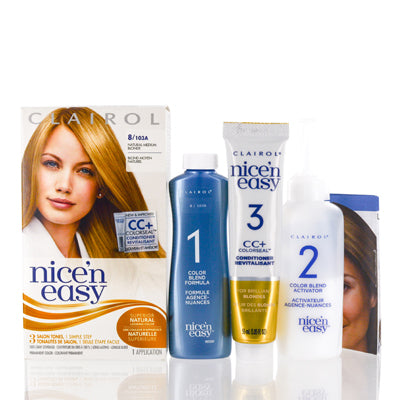 Shop for authentic Clairol Nice 'N Easy 8 103A Natural Medium Blonde Kit at Diaries of Paris