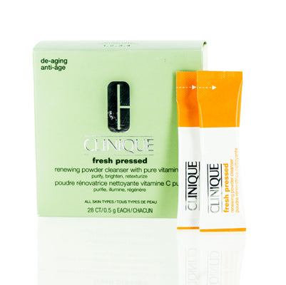 Shop for authentic Clinique Fresh Pressed Renewing Powder Cleanser W  Pure Vitamin C  28 Ct .5G Ea at Diaries of Paris