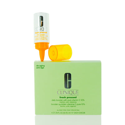 Shop for authentic Clinique Fresh Pressed Daily Booster With Pure Vitamin C  4 Containers .30 Oz Ea at Diaries of Paris