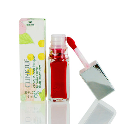 Clinique Pop Lacquer Lip Colour (Gloss) + Primer 02 Lava Pop .20 Oz