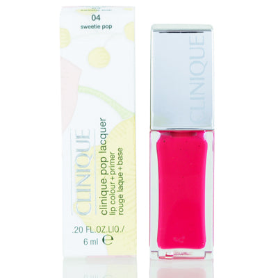 Clinique Pop Lacquer Lip Colour (Gloss) + Primer 04 Sweetie Pop .20 Oz