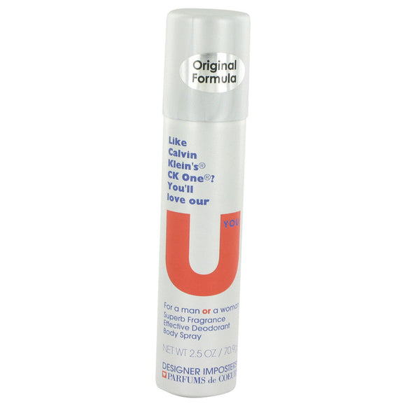 Designer Imposters U You Deodorant Body Spray (Unisex) By Parfums De Coeur For Women