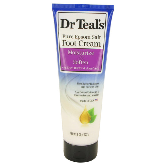 Dr Teal's Pure Epsom Salt Foot Cream Pure Epsom Salt Foot Cream with Shea Butter & Aloe Vera & Vitamin E By Dr Teal's For Women