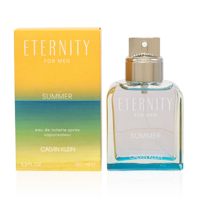 Eternity Summer Men by Calvin Klein Edt Spray 2019 Edition For Men