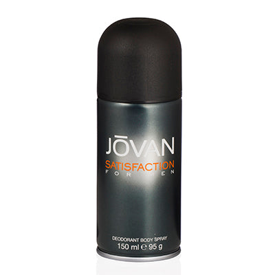 Jovan Satisfaction Men by Jovan Deodorant Body Spray 5.0 oz (150 ml) For Men
