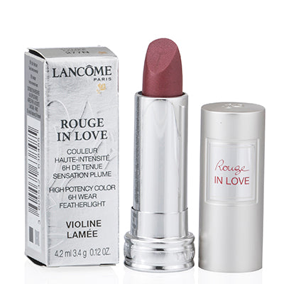 Lancome Rouge In Love Violine Lamee Lipstick 0.12 Oz (4.2 Ml)