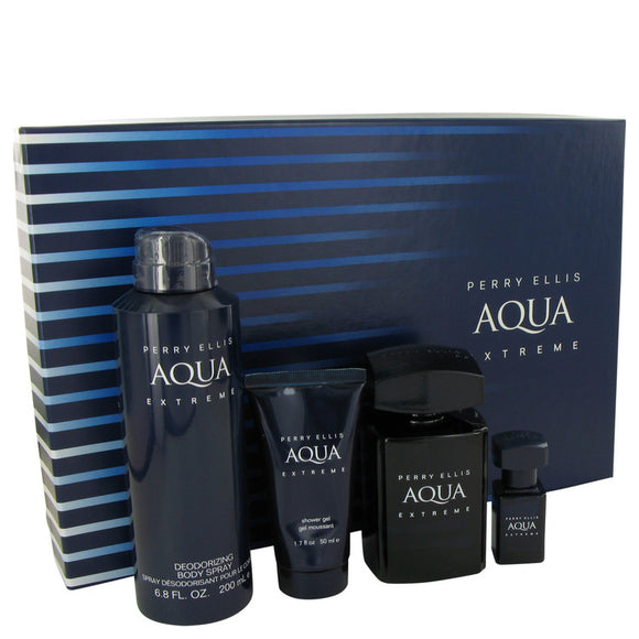 Perry Ellis Aqua Extreme Gift Set By Perry Ellis For Men