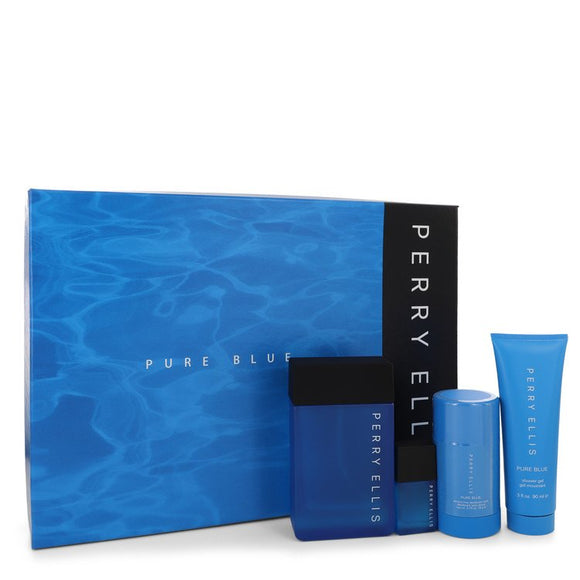 Perry Ellis Pure Blue Gift Set By Perry Ellis For Men