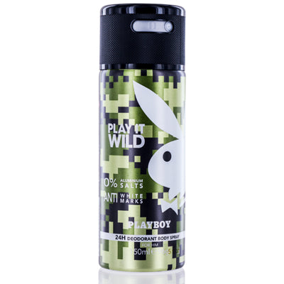 Playboy Play It Wild Coty Deodorant & Body Spray 5.0 Oz (150 Ml) For Men