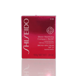 Shiseido Sheer Matifying Foundation Refill (D30 Very Rich Brown) .34 oz(9.8 ml)