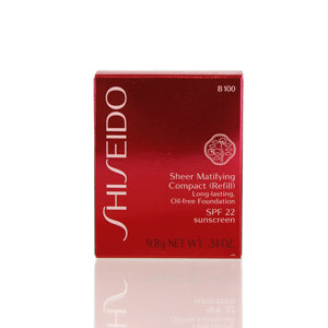 Shiseido Sheer Matifying Foundation Refill (B100 Very Deep Beige) .34 Oz