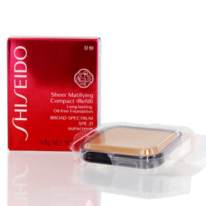 Shiseido Sheer Matifying Foundation Refill (D10 Golden Brown) .34 oz (9.8 ml)