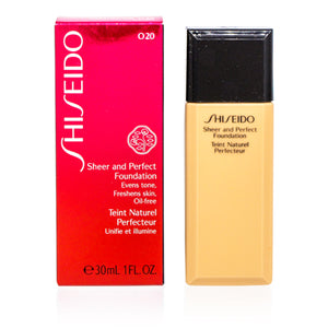 Shiseido Sheer And Perfect Liquid Foundation Natural Light Ochre (020) 1.0 oz