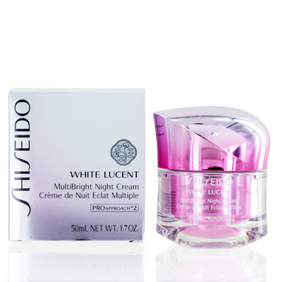 Shiseido White Lucent Multi Bright Night Cream 1.7  oz (50  ml).