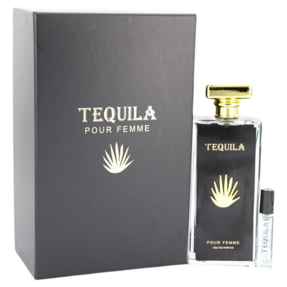 Tequila Pour Femme Eau De Parfum Spray with Free Mini .17 oz EDP By Tequila For Women