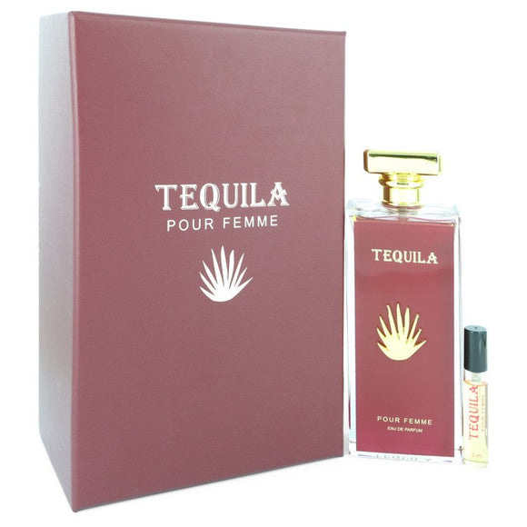 Tequila Pour Femme Red Eau De Parfum Spray + Free .17 oz Mini EDP Spray By Tequila Perfumes For Women