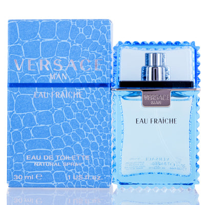 Versace Man Eau Fraiche by Versace Edt Spray (Blue) For Men