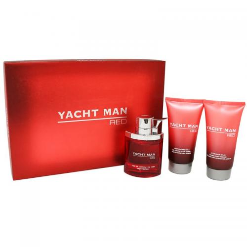 Yacht Man Red by Yacht Man 3 Piece Gift Set For Men