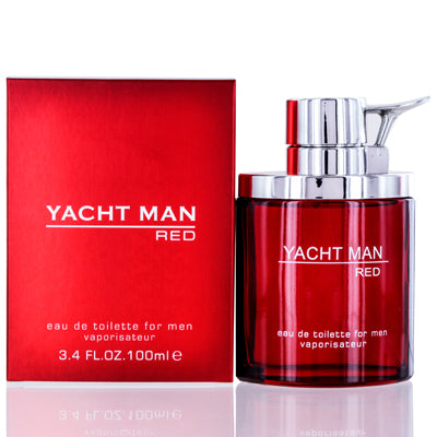 Shop for authentic Yacht Man Red Myrurgia Edt Spray 3.4 Oz (100 Ml) For Men at Diaries of Paris