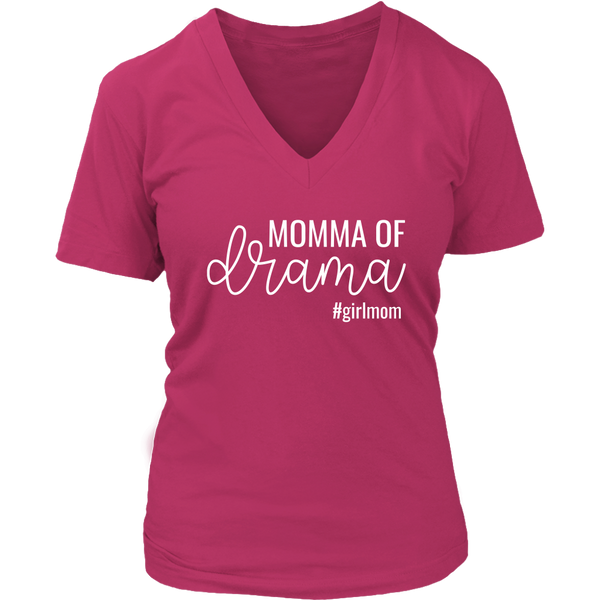 Momma of Drama #GirlMom - V-Neck