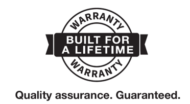 Built for a lifetime warranty