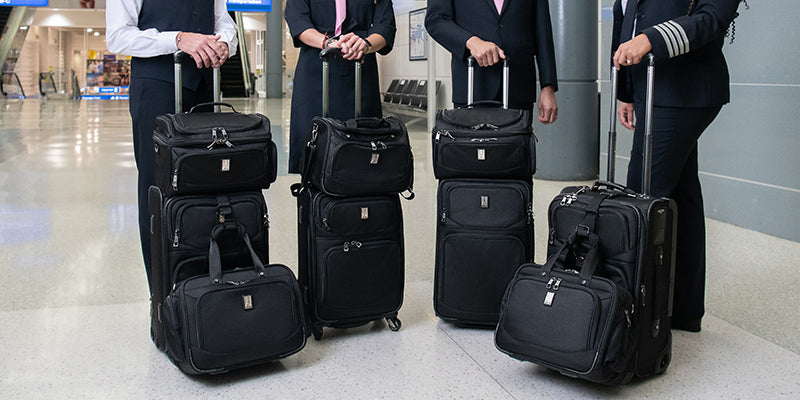 Carry on luggage with totes attached with j-hooks