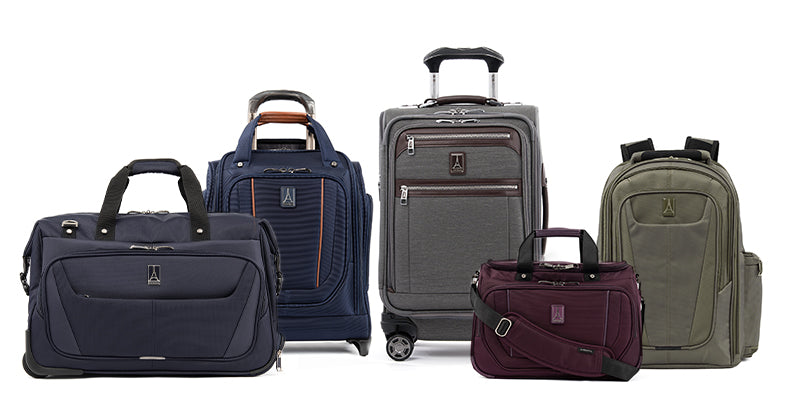 Different carry-ons featuring spinner, backpack, duffel and underseat bag