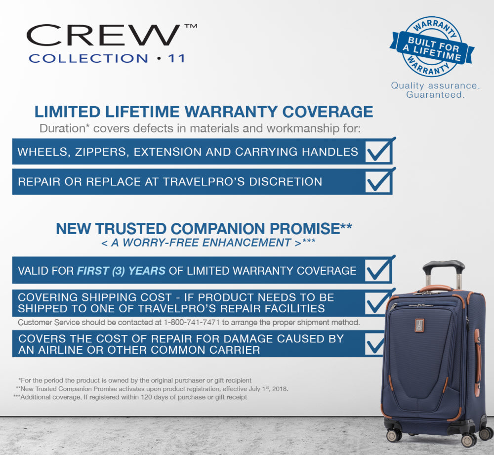 Crew 11 lifetime warranty