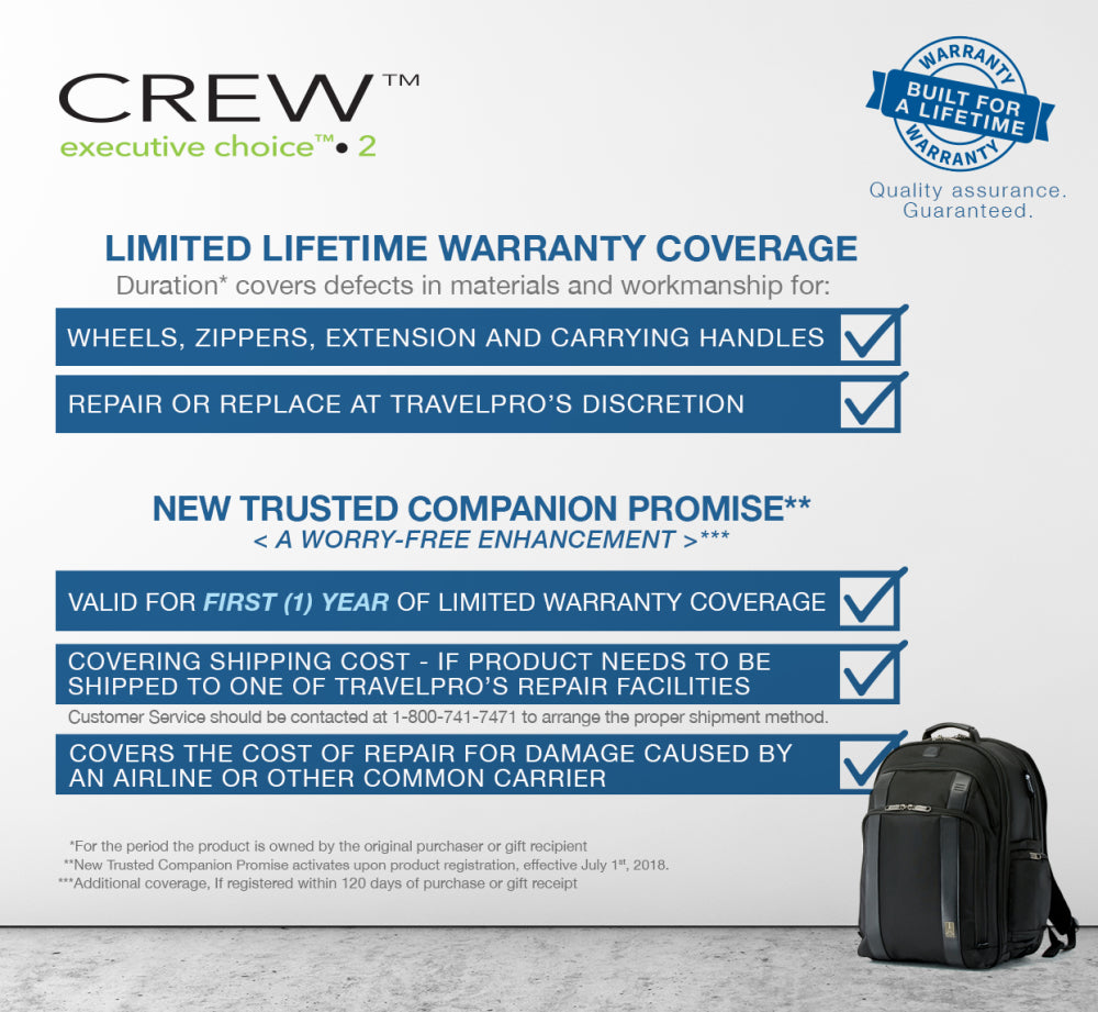 Executive 2 choice lifetime warranty