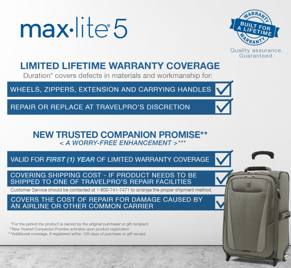 Max lite lifetime warranty