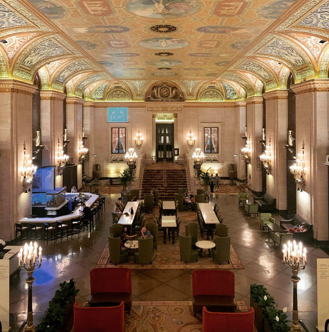 Lobby of the Palmer House in Chicago