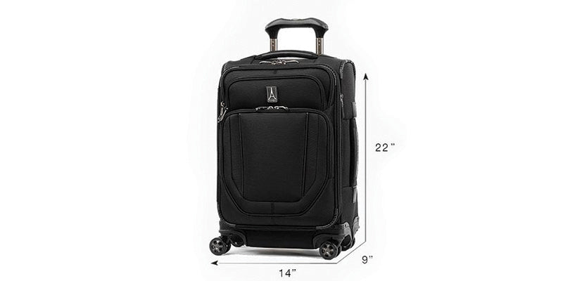 how to measure a carry on luggage bag