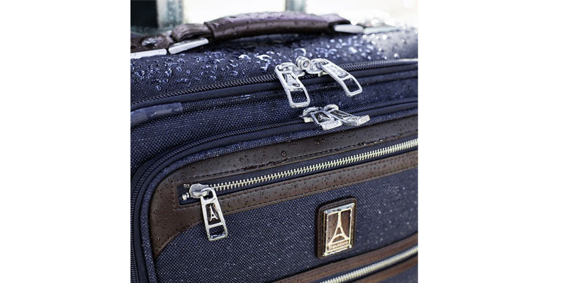 Softside luggage with duraguard fabric resists moisture