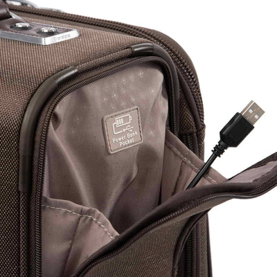 Travelpro Platinum Elite International Expandable Carry-on Rollaboard, Rich Espresso