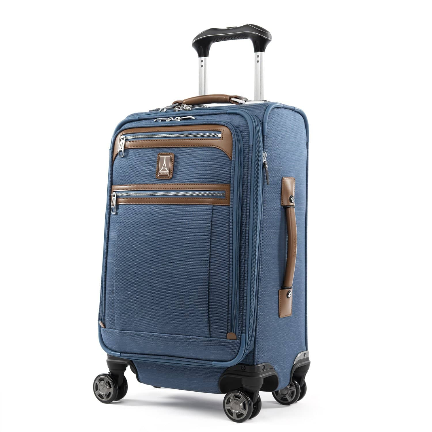 "Travelpro Platinum® Elite 21"" Expandable Carry-on Spinner COASTAL BLUE"