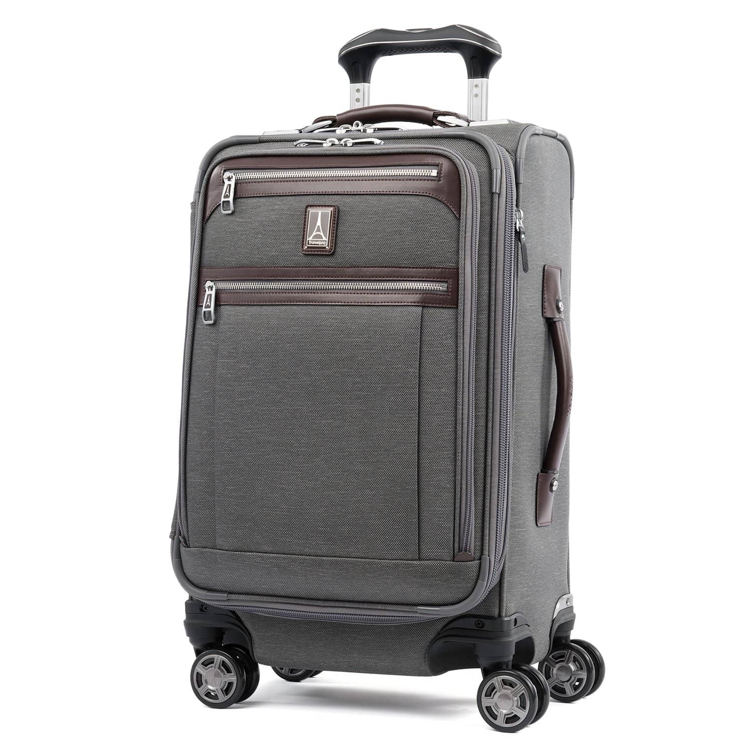 "Travelpro Platinum® Elite 21"" Expandable Carry-on Spinner VINTAGE GREY"
