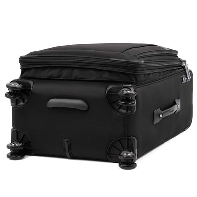 "Travelpro Platinum Elite 25"" Expandable Checked Spinner, Shadow Black"
