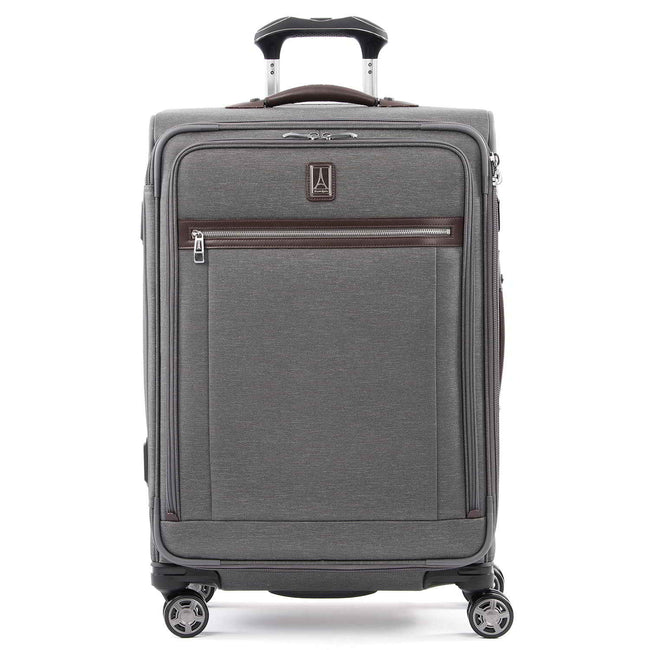 "Travelpro Platinum Elite 25"" Expandable Checked Spinner, Vintage Grey"