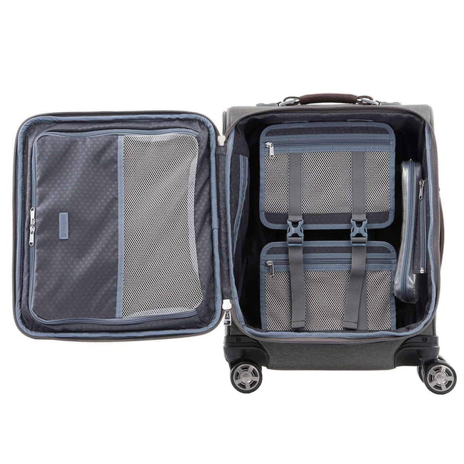 Travelpro Platinum Elite International Expandable Carry-On Spinner, Vintage Grey