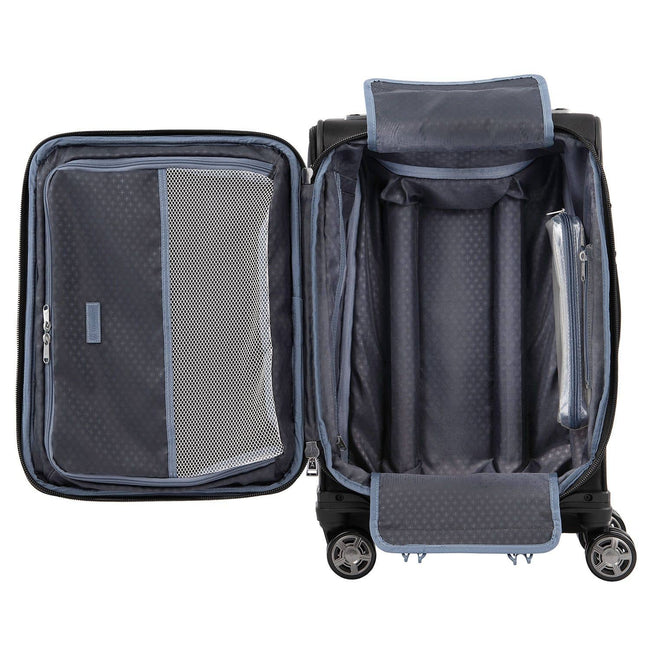 "Travelpro Platinum Elite 20"" Expandable Business Plus Carry-On Spinner, Shadow Black"