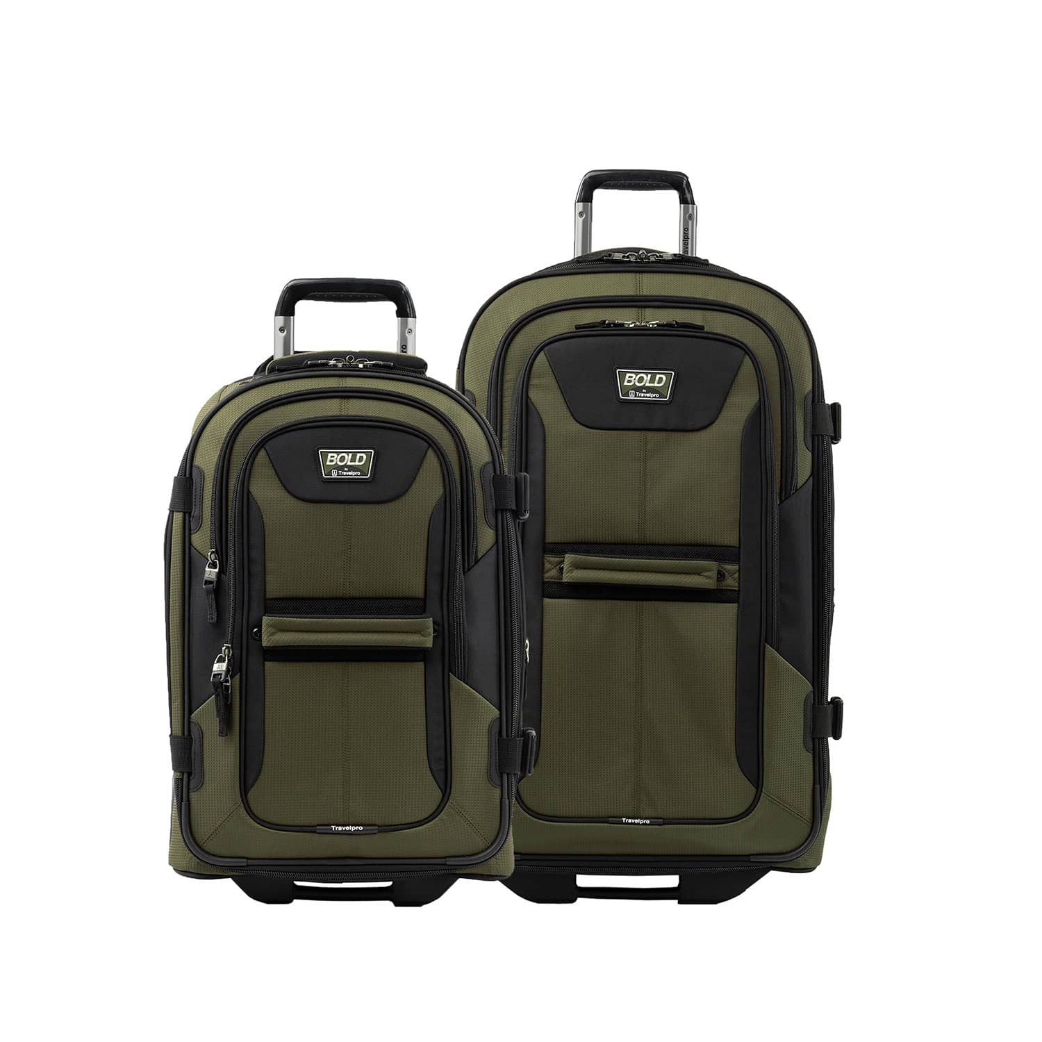 "Travelpro Bold® 22""/28"" Rollaboard Luggage Set OLIVE"