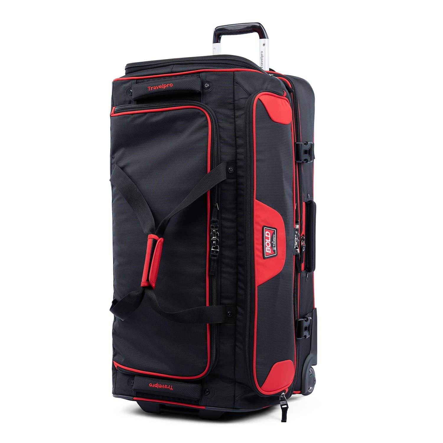 """Travelpro Bold™ By Travelpro® 30"""" Drop Bottom Rolling Duffle RED BLACK"""