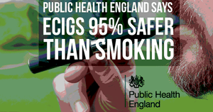 Government says vaping 95% safer than smoking in push to get smokers to switch to e-cigarettes