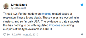 UK Vape Experts Say Vaping Not To Blame For US Death