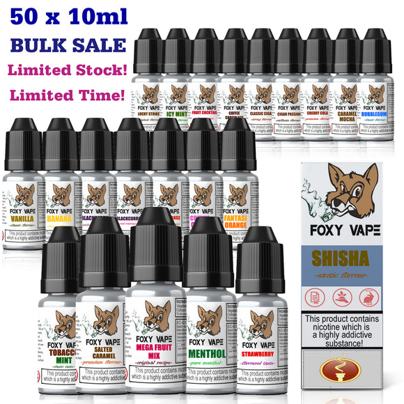50x10ml Eliquid