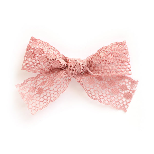 village baby dusty pink amelia bow clip perfect match accessory for baby and little girls